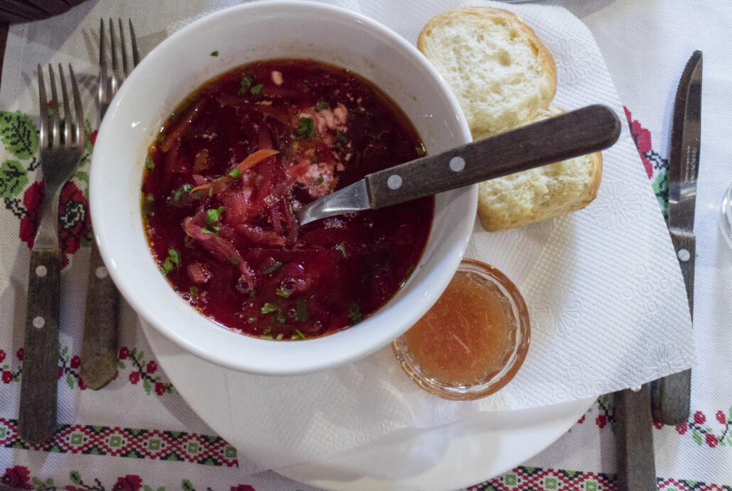 Moldawische traditionelle Küche: Borschtsch